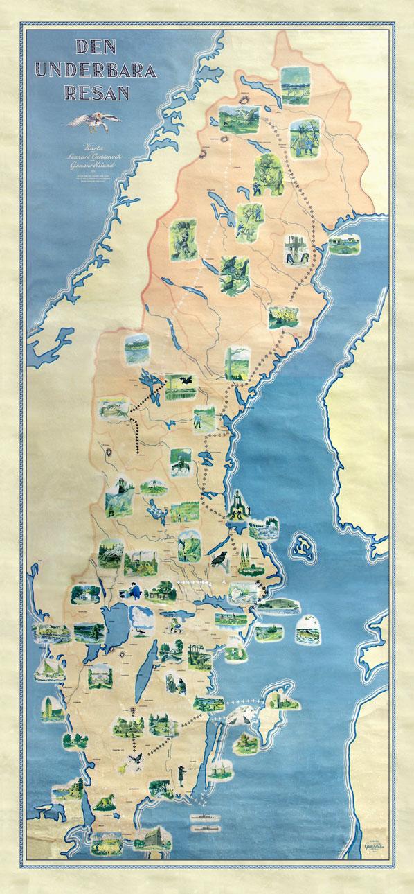 Nils Holgersson karta