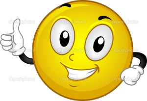 Illustration of a Smiley Giving a Thumbs Up